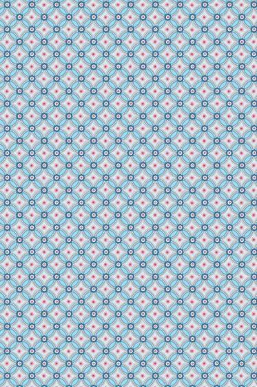 Geometric Tapete hellblau