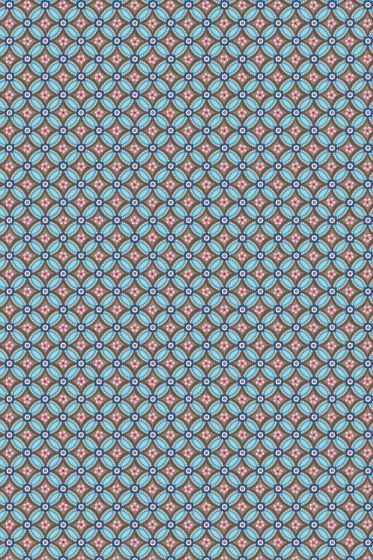 Geometric Tapete braun hellblau