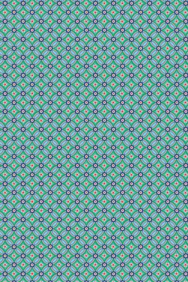 Geometric wallpaper green
