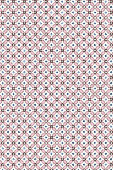 Geometric wallpaper light pink