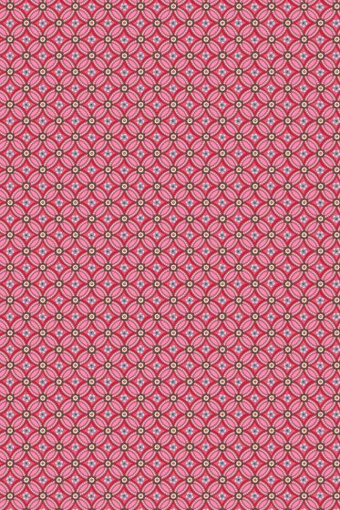 Geometric behang rood