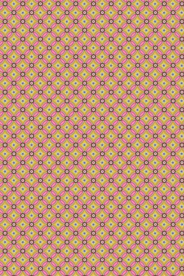 Geometric wallpaper yellow