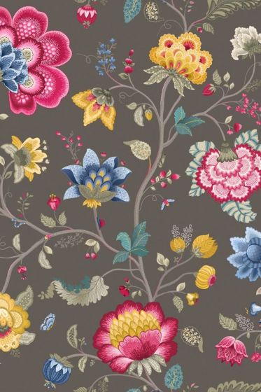 Floral Fantasy wallpaper taupe
