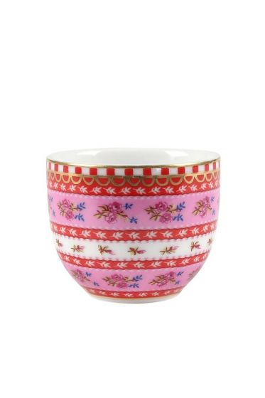 Floral egg cup pink