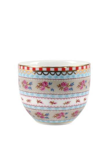 Floral egg cup khaki