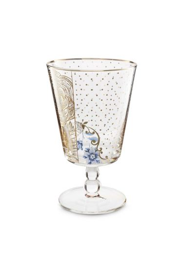 Royal Golden Flower water glass low
