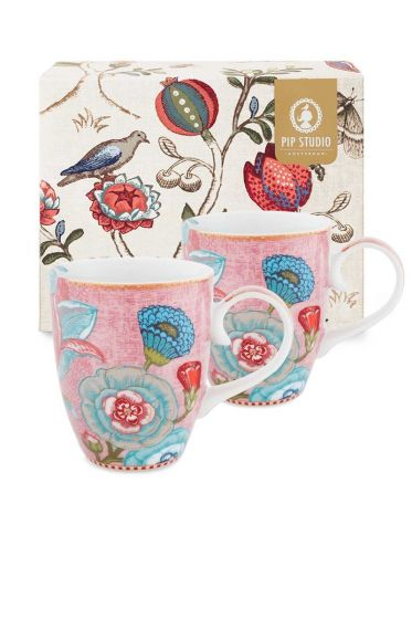 Spring to Life Geschenkset 2 Tassen Groß Rosa