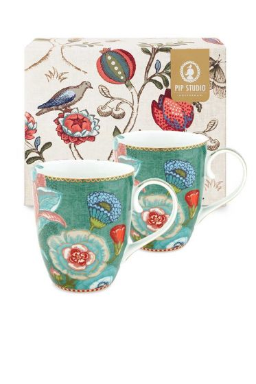 Spring to Life Gift set 2 Mugs Large Green