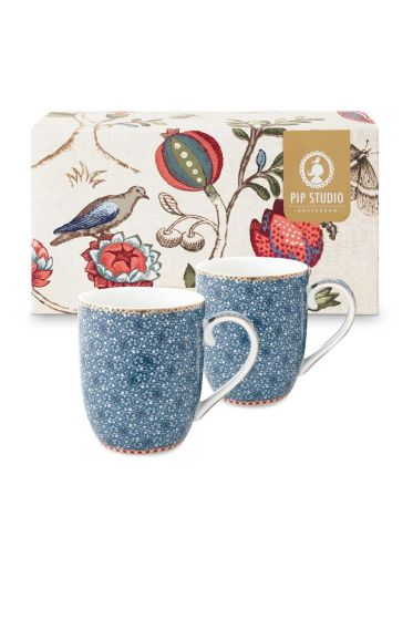 Spring to Life Gift set 2 Mugs Small Blue