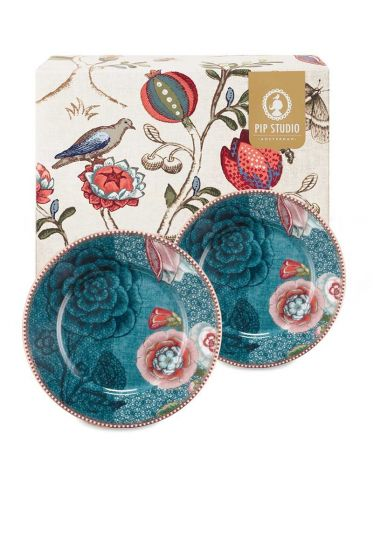 Spring to Life Gift set 2 Cake Plates Blue