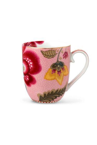 Small Floral Fantasy mug pink