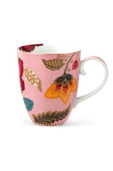 Big Floral Fantasy mug pink