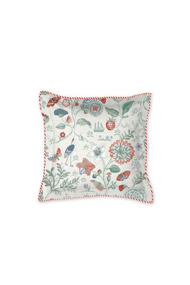Cushion Square Spring to life petit White