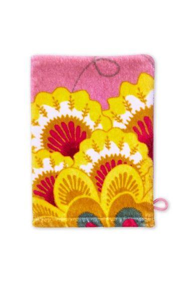 Floral Fantasy Washcloth Pink