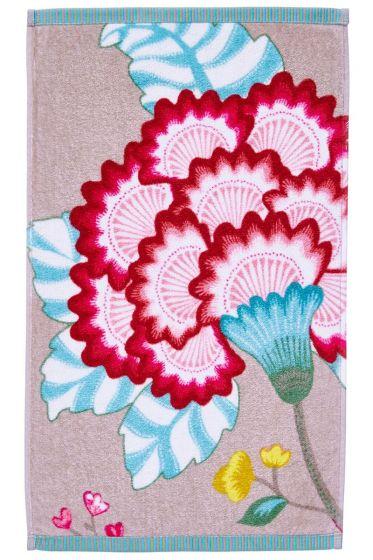 Floral Fantasy Gastendoek Khaki