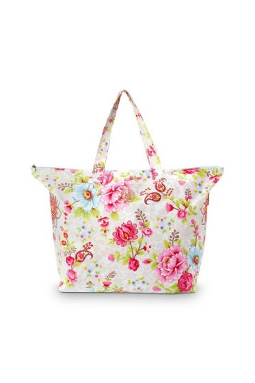Pip Classic Strandtasche Flowers in the Mix Khaki