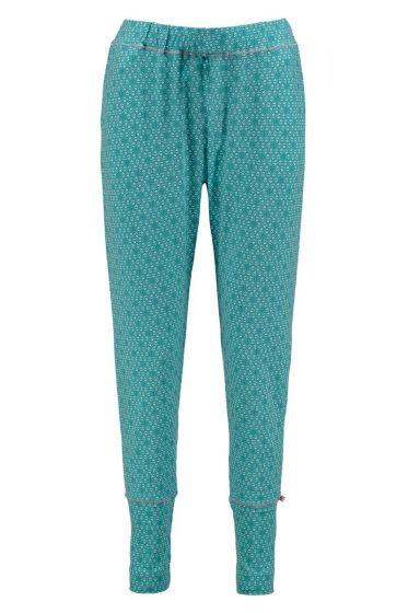 Long Trousers Leaves Aqua