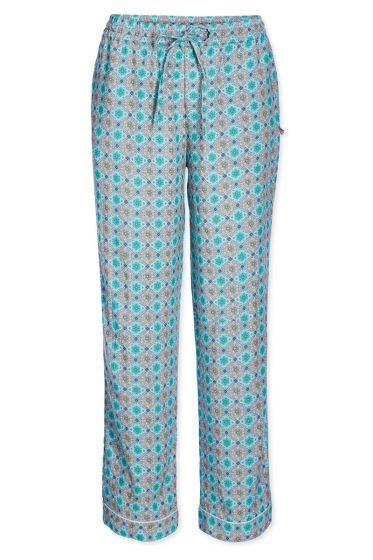 Trousers woven Double Check green
