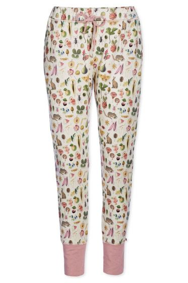 Trousers boyfriend Forest Treasures off-white