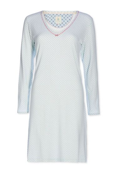 Nightdress round neck Go Nuts blue