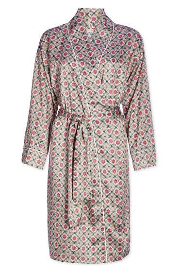Kimono Double Check roze