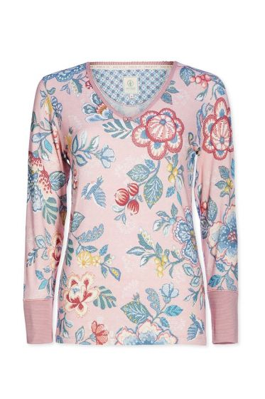 Top longsleeve Berry Bird pink