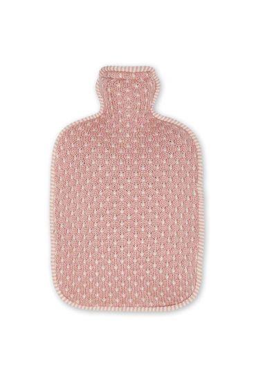 Kruik cover Cosy gebreid roze