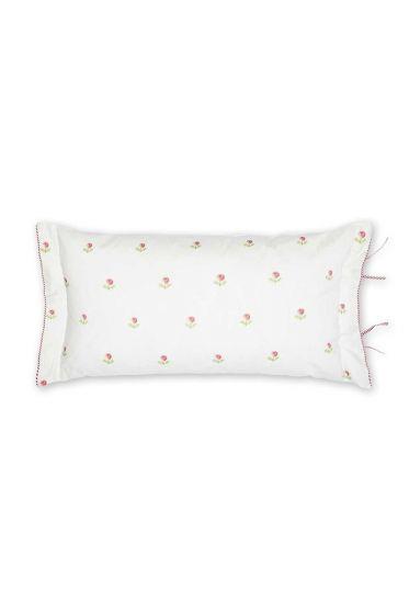 Kussen Family Tree rechthoek roze / wit