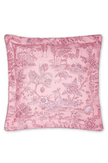 Zierkissen Hide and Seek quadratisch rosa
