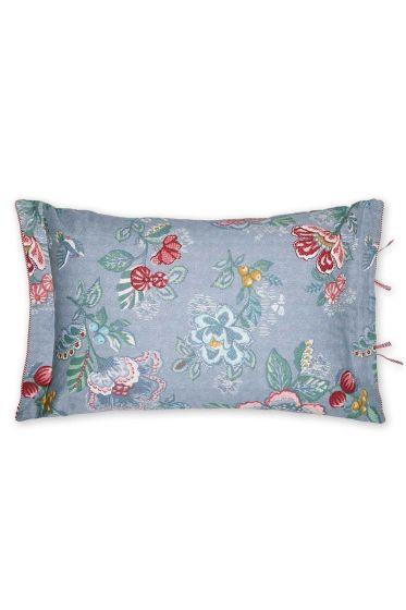 Cushion Berry Bird rectangle blue