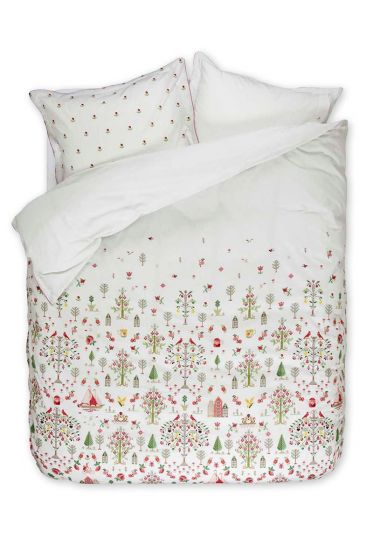 Duvet cover Family Tree pink / white