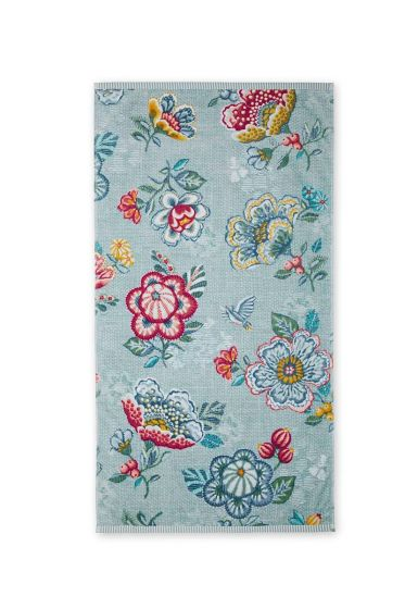 Badetuch Berry Bird Blau
