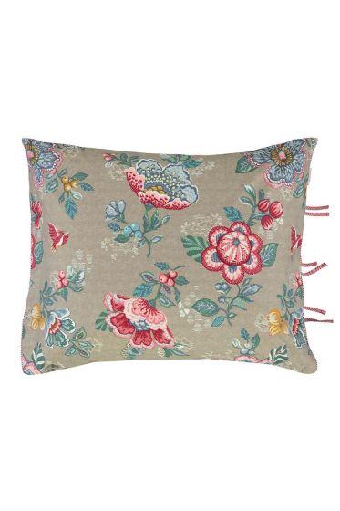 Pillowcase Brushed twill Berry bird Khaki