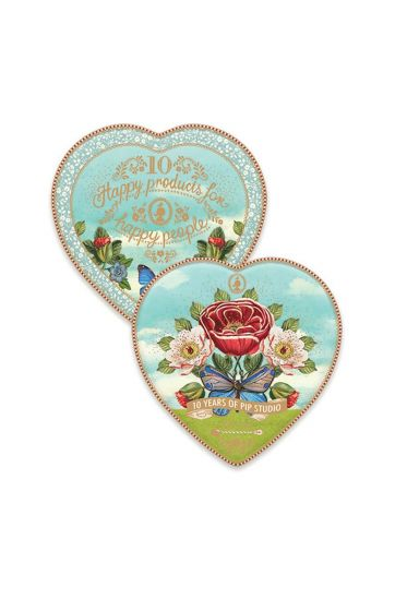 Set/2 heart-shaped plates Pip 10 Years
