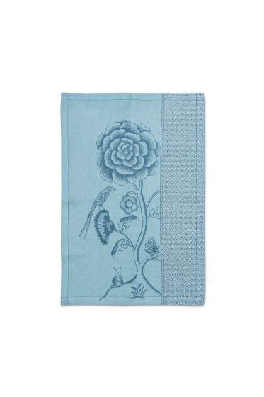Spring to Life Lacy Tea Towel 50x70cm Blue