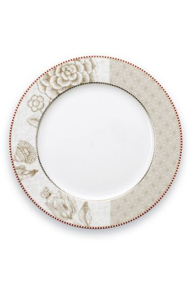 Spring to Life Dinner Plate 26,5 cm off white