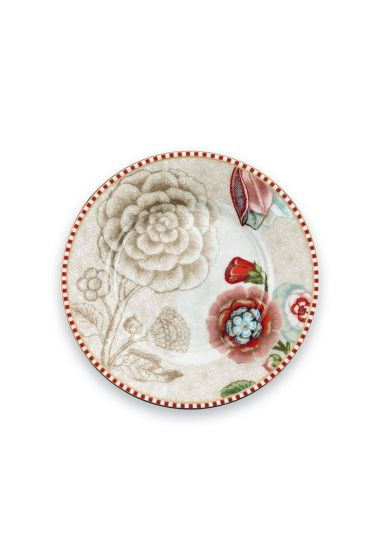 Spring to Life Petit Four Bord 12 cm gebroken wit