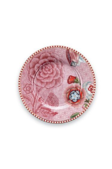 Spring to Life Petit Four Plate 12 cm pink