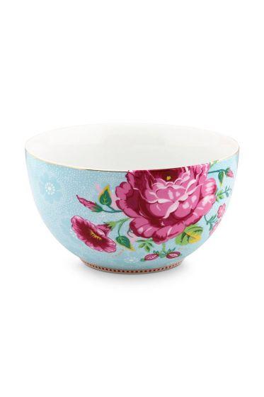 Floral Schale Rose 18 cm Blau
