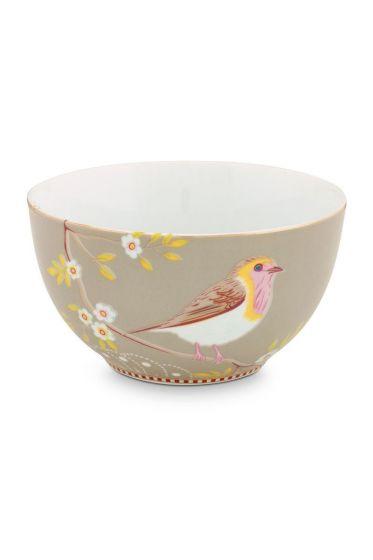 Floral Bowl Early Bird 15 cm Khaki