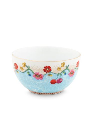 Floral Bowl Cherry 12 cm Blue