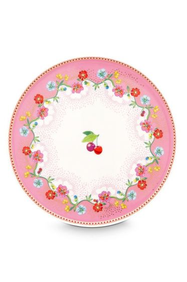 Floral Mini Cake Tray Cherry Pink