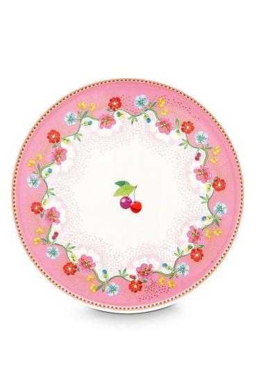Floral mini Tortenplatte Cherry Pink 21 cm Rosa
