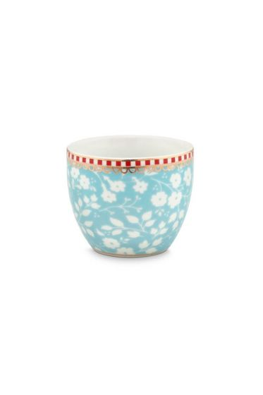 Floral Egg Cup Lovely Branches Blue