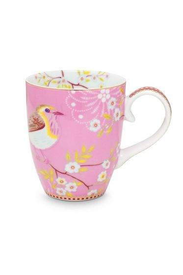 Floral Tasse groß Early Bird Rosa