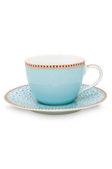 Floral espresso kop en schotel Bloomingtails Blauw