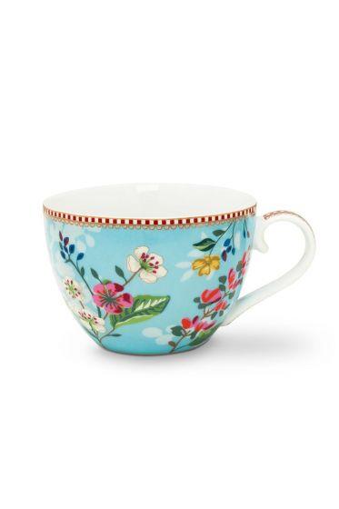 Floral Cup XL Hummingbirds Blue