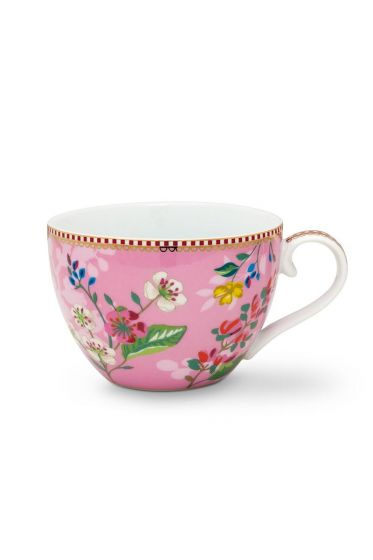Floral Cup XL Hummingbirds Pink