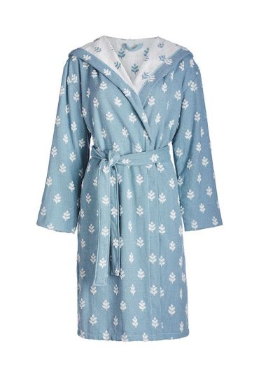 Bathrobe Leaf Me blue