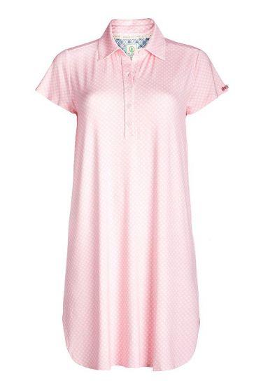 Short sleeve nightdress Leaf Me pink